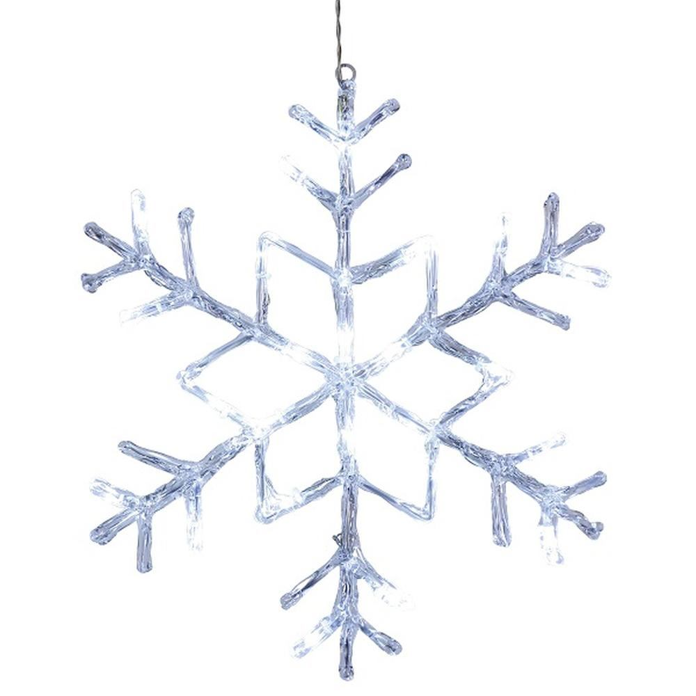 LED Acryl Schneeflocke ANTARCTICA 40x40cm 24er kaltweiß außen 583-91