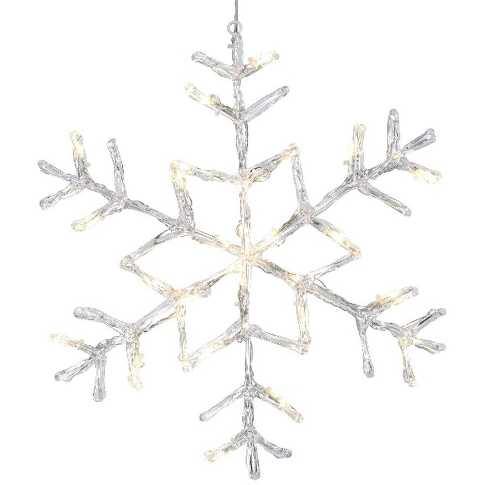 LED Acryl Schneeflocke ANTARCTICA 40x40cm 24er warmweiß außen 583-96