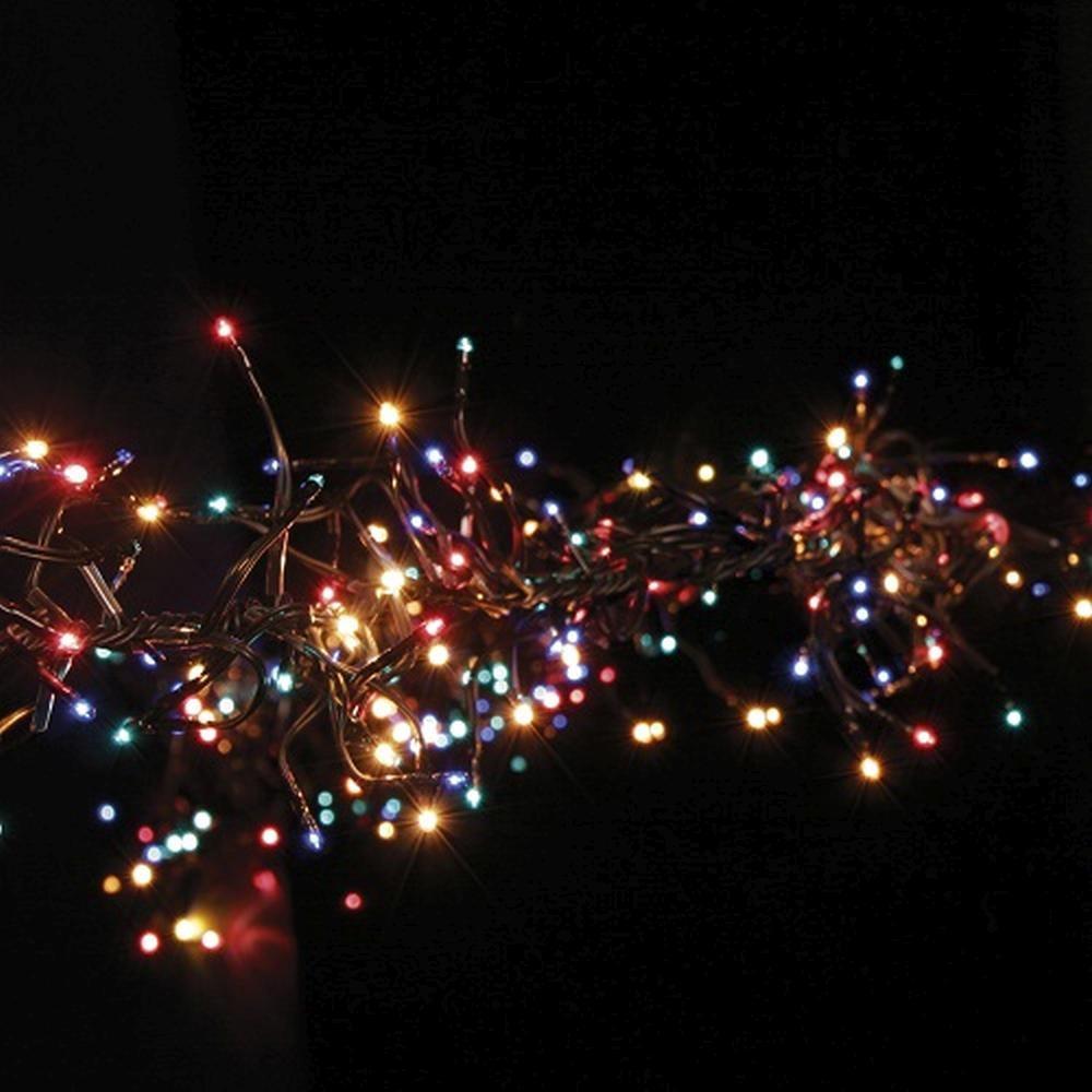 Micro Black Lichterkette Girlande 384er 2m multicolor außen 590-61