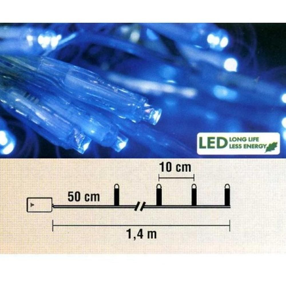 Micro LED Lichterkette 10er Batteriebetrieb blau Best Season 725-24
