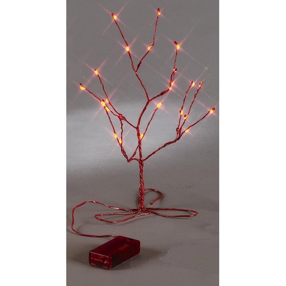 LED Minitree 30 x 15 cm rot Batteriebetrieb Best Season 725-55