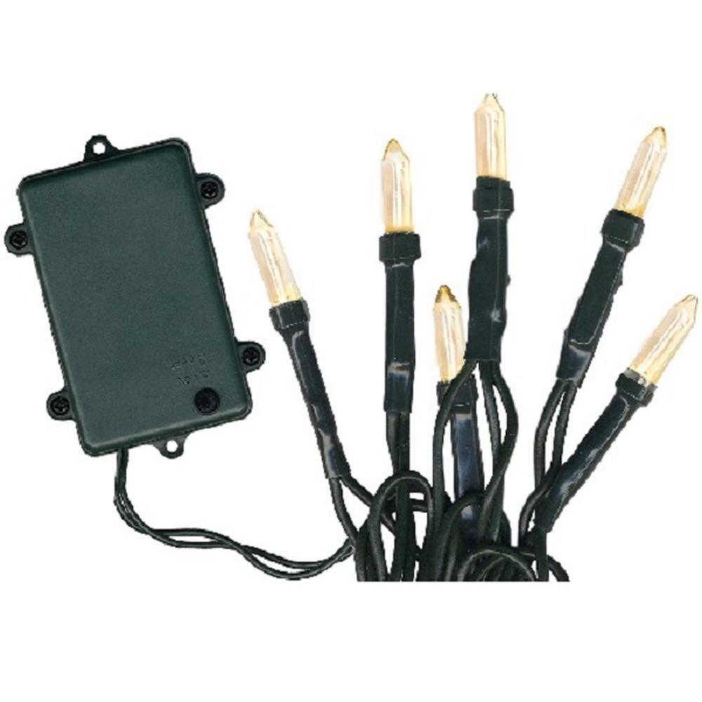 LED Lichterkette 48er Batterie warmweiß Timer 8 Funtionen außen 726-55