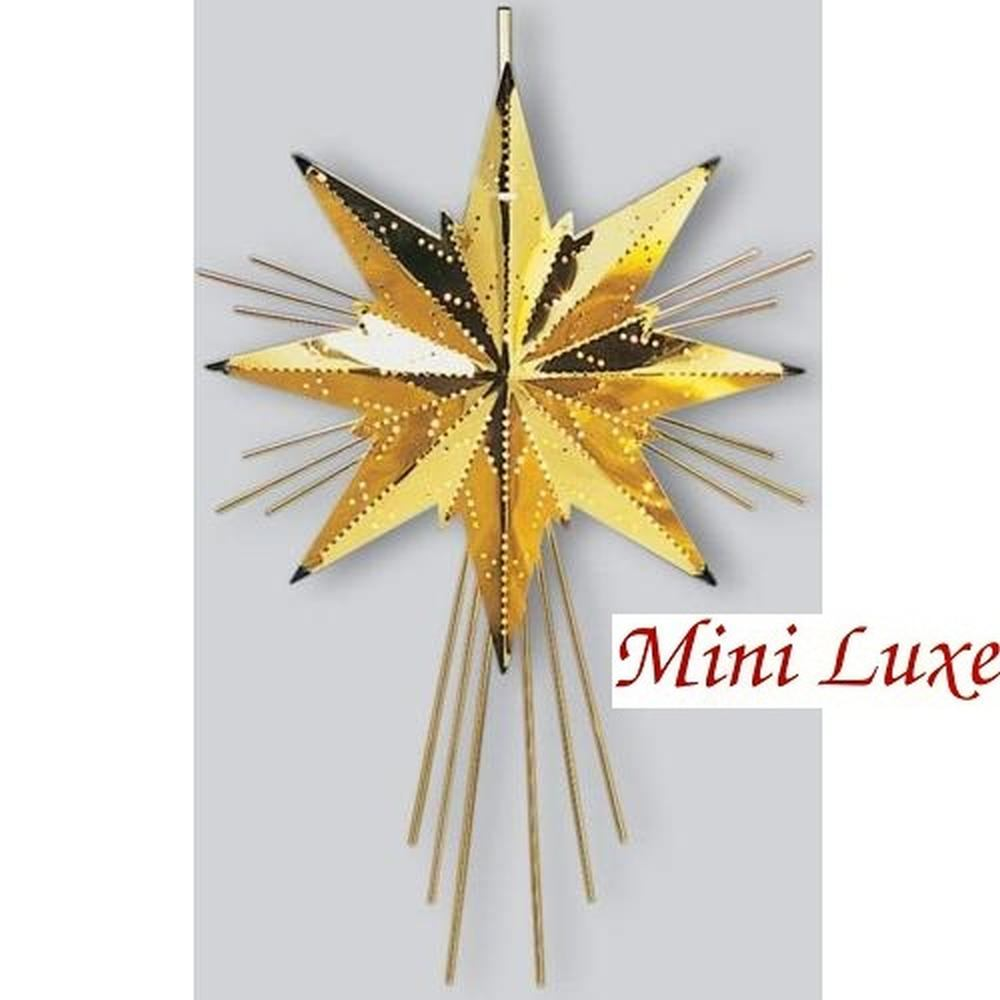 Weihnachtsstern Messingstern Mini Luxe gold 37x25cm Best Season 797-00