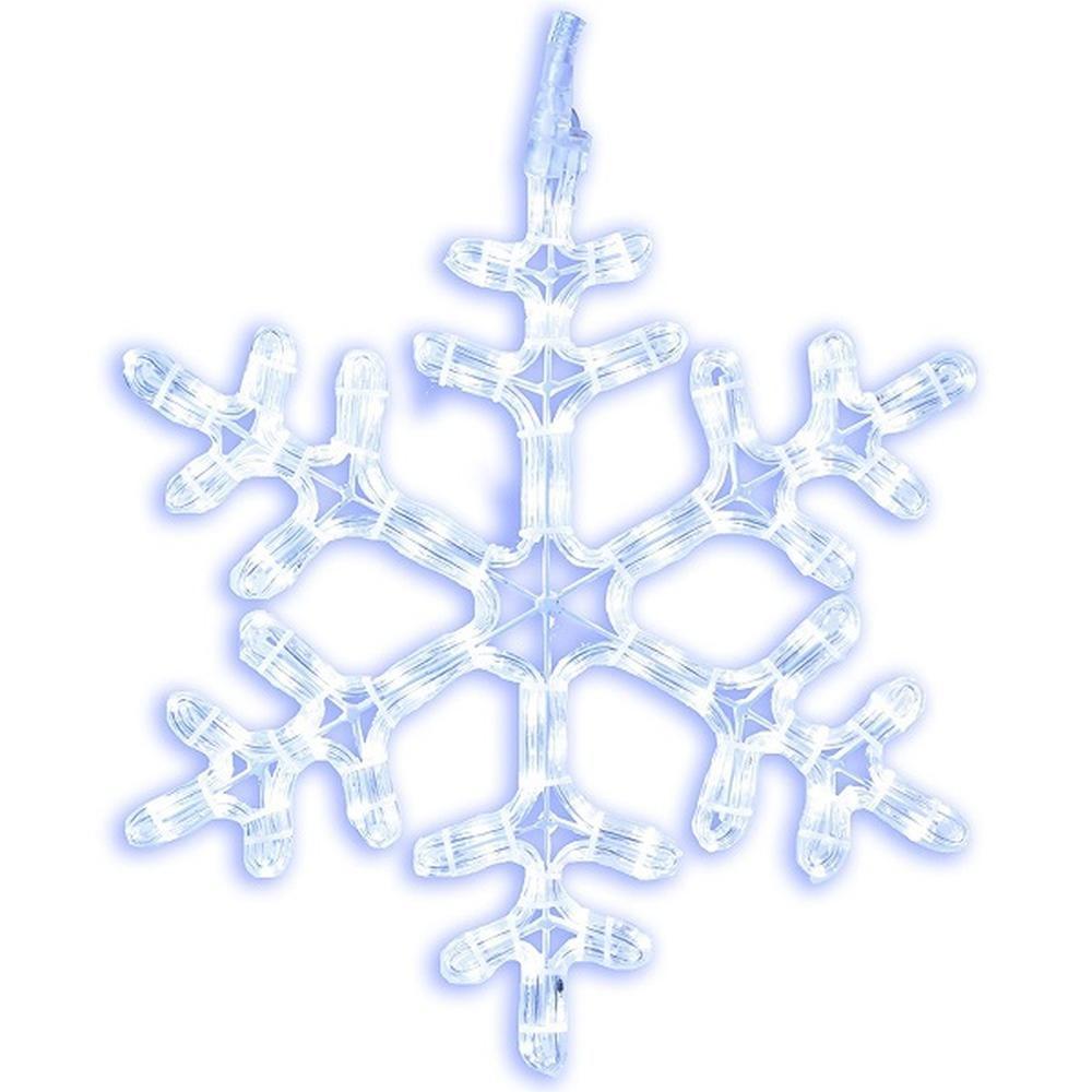 LED Lichtschlauch Silhouette Schneeflocke 40cm kaltweiß außen / innen 800-61