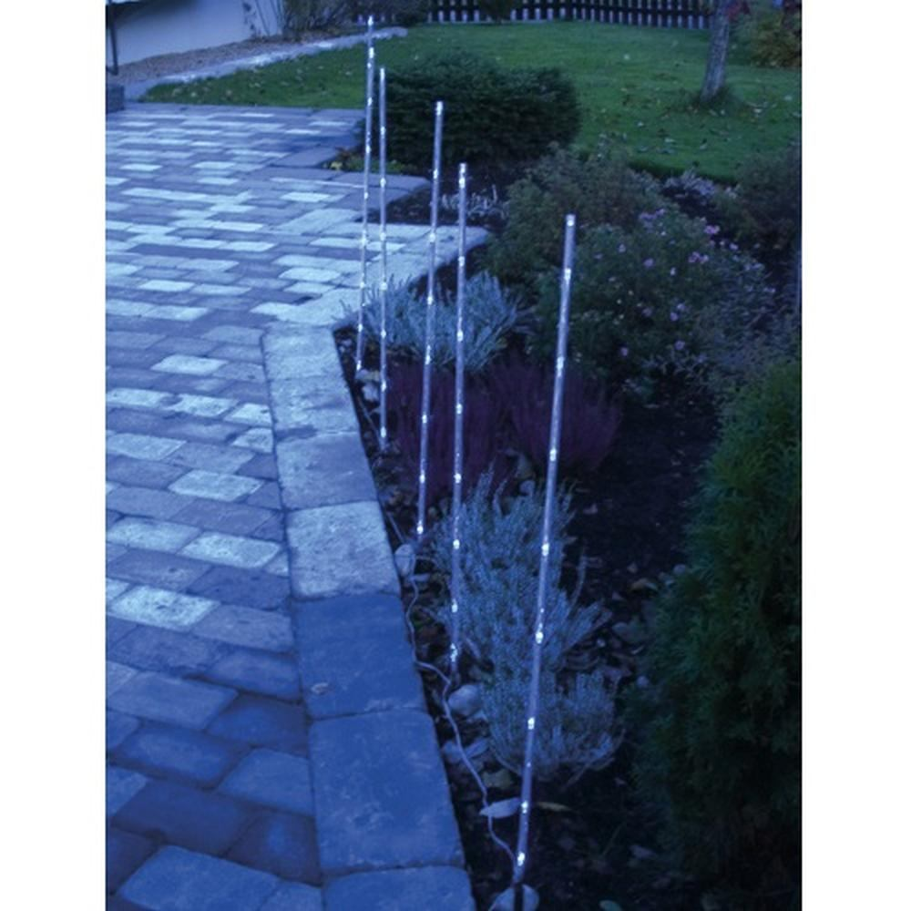 LED Leuchtstäbe 6er 90cm blau Gartenstecker außen Best Season 859-49