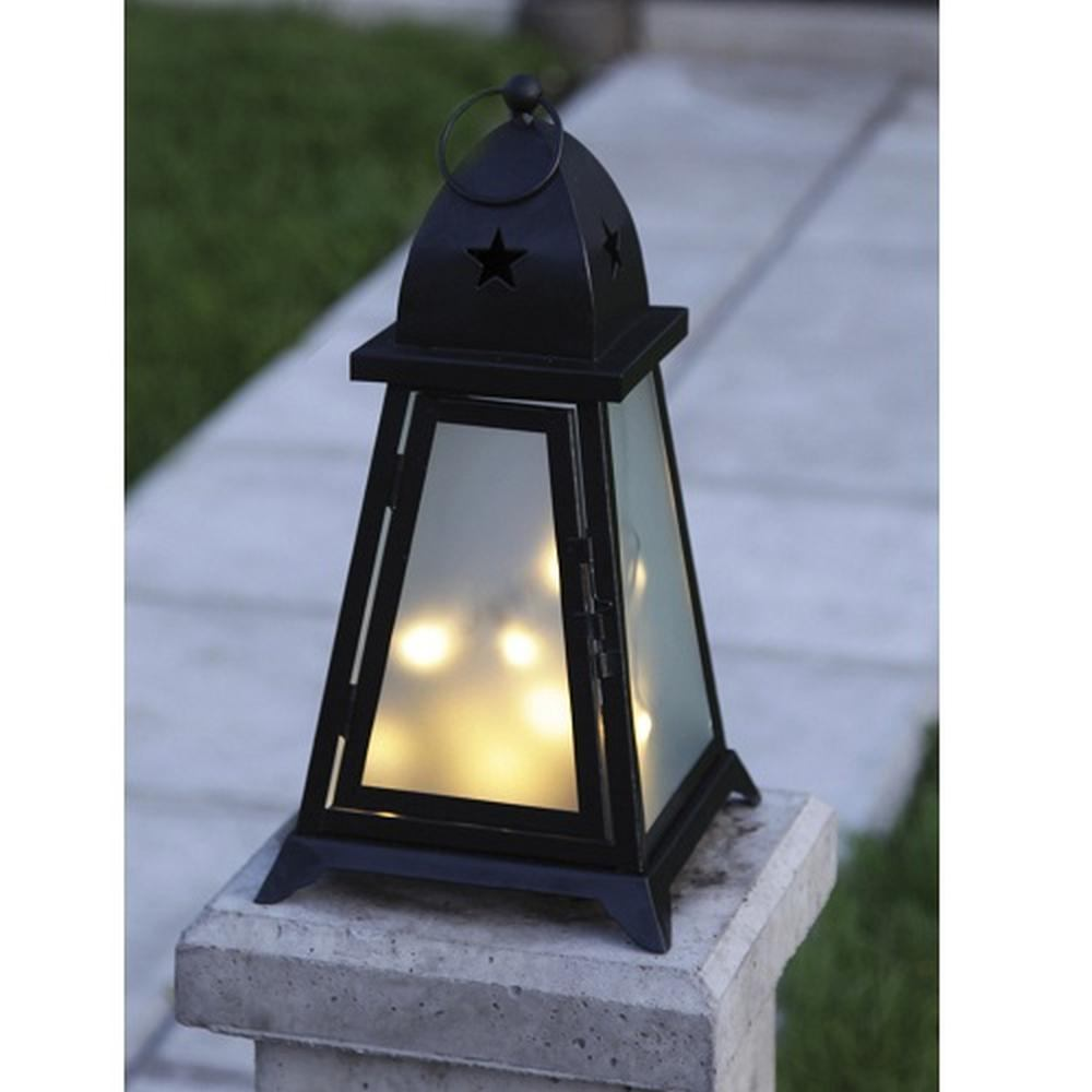LED Garten Laterne Fyris 38x20cm warmweiß beleuchtet Best Season 861-02