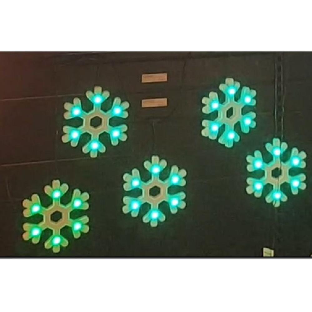 Multi Pix LED Silhouette 9 Schneeflocken 54er außen digital gest. RGB SA000087