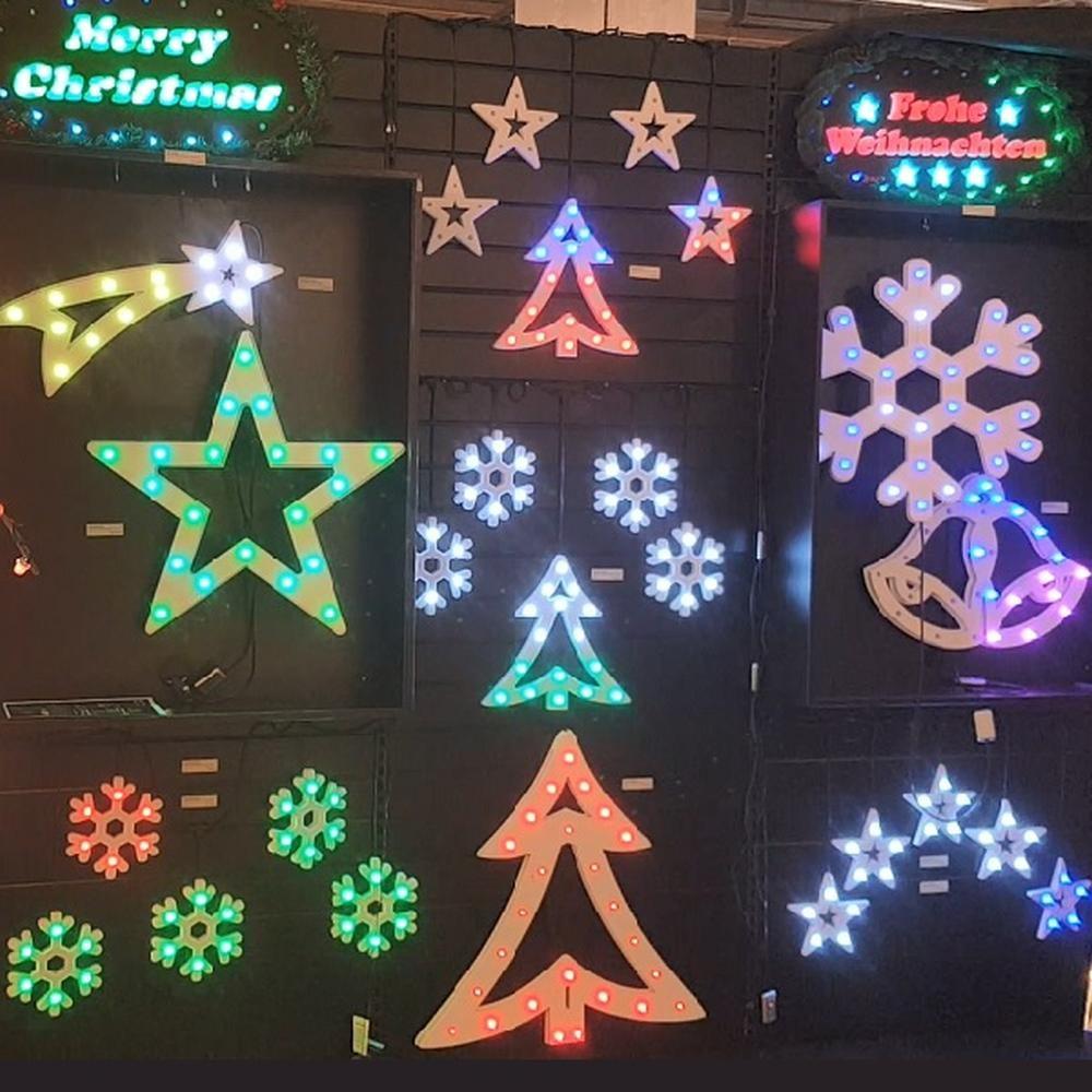 Multi Pix LED Silhouette 9 Sterne 45er außen digital gesteuert RGB SA000086