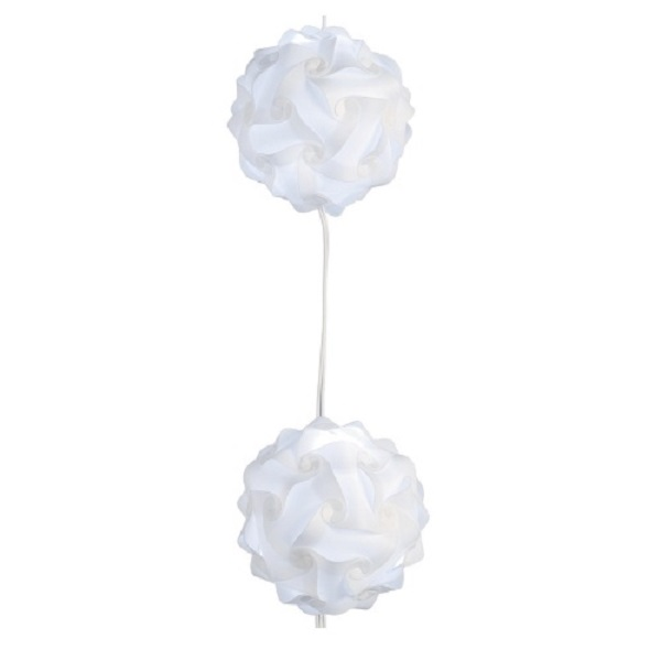 LED Origami Balls Lichterkette 7er kaltweiß Blachere A890L