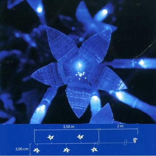 LED Fiberoptik Lichterkette 16er blau 16 Funktionen Blachere JF951B