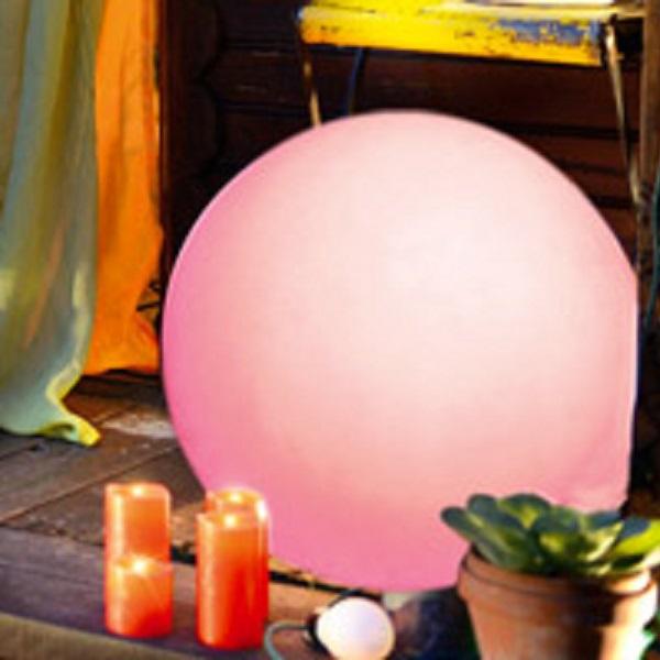 LED Leuchtkugel 20cm RGB Farbwechsel Fernbedienung außen JFE008