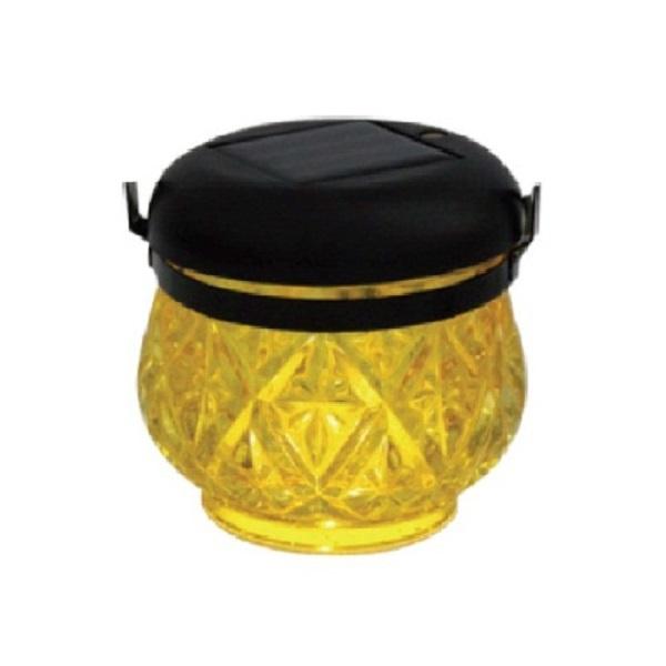 LED Solarleuchte Solarlampe Laterne Glas gelb Blachere JFS065J