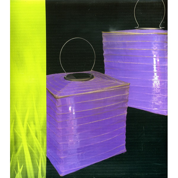 LED Solar Lampion Farbwechsel blau/pink JFS067BP