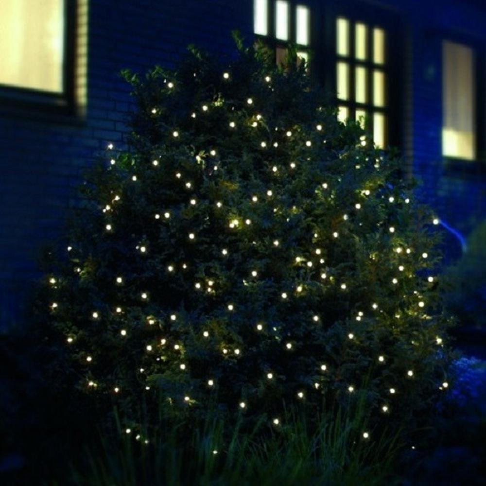 LED Pavillon-Lichternetz 3x3m 200er warmweiß-grün außen FHS 02886