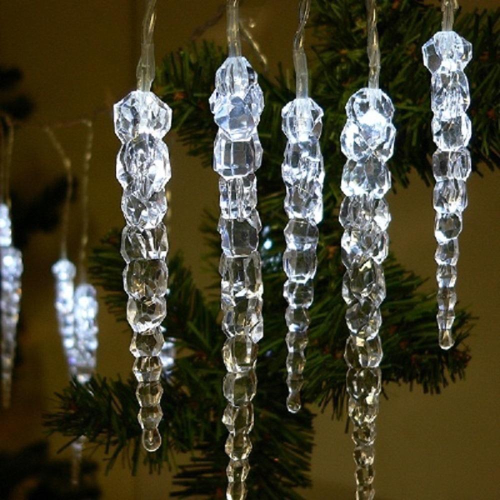 LED Eiszapfenlichterkette 3m 20 Zapfen weiß außen FHS 03210