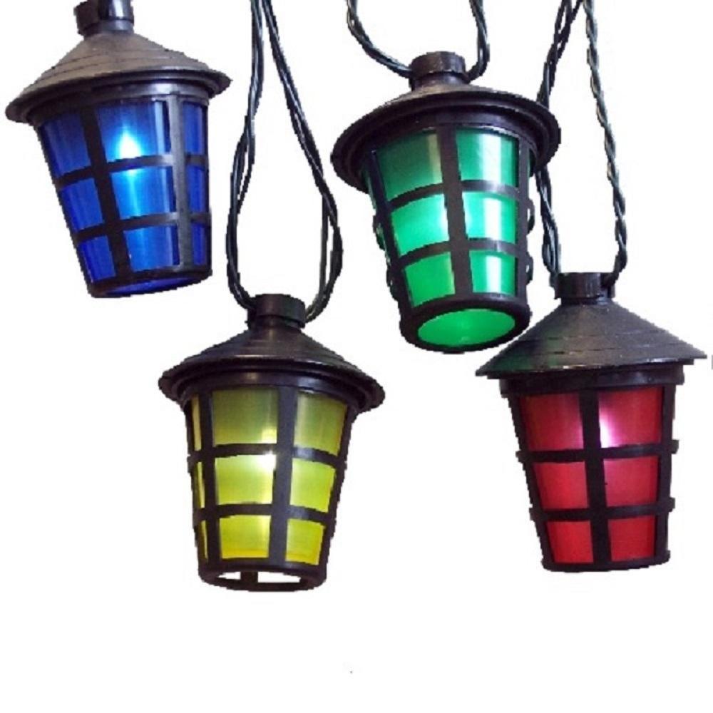 LED-Party-Lichterkette 50er Laterne Lampion 12,25m 4 Farbig FHS 11567