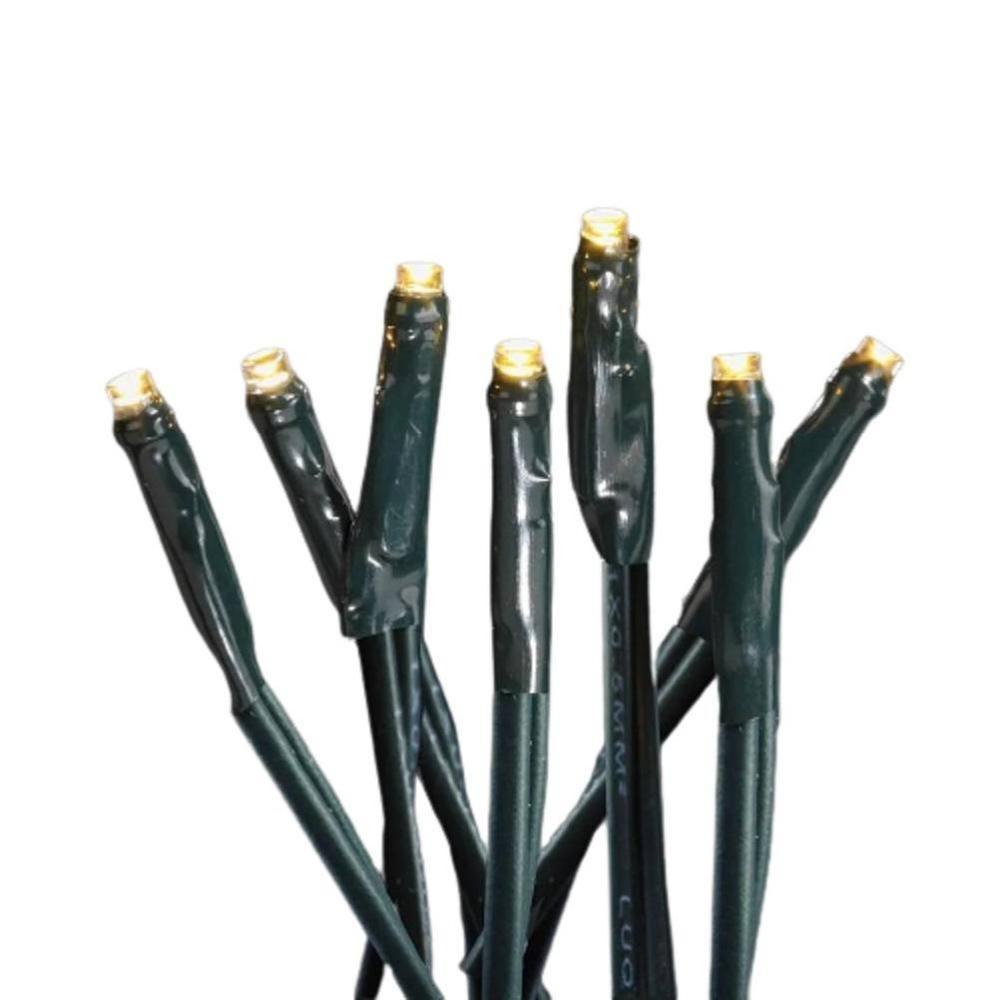 LED Mini-Lichterkette 10er warmweiß / grün ein Strang innen FHS 09229