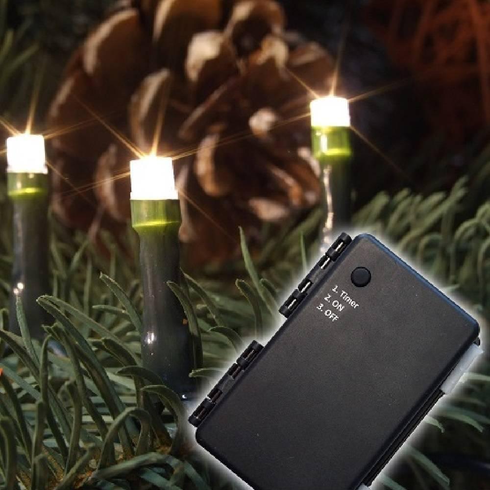 LED Lichterkette 40er warmweiß Batteriebetrieb Timer aussen 11987