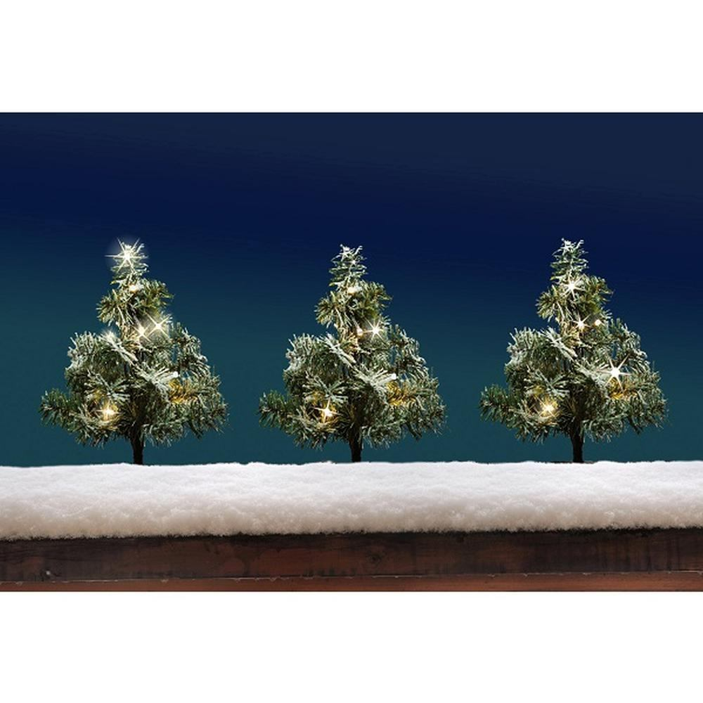 LED Tannenbaum-Leuchtstäbe 3er 36LEDs warmweiß 25cm FHS 12595