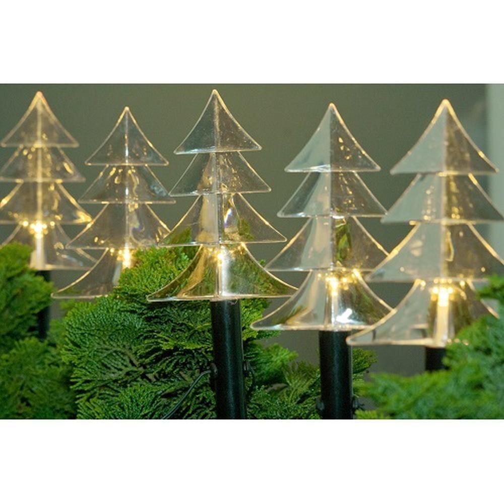 LED Balkon Leuchtstäbe Tanne 6er warmweiß 25cm FHS 14407 außen