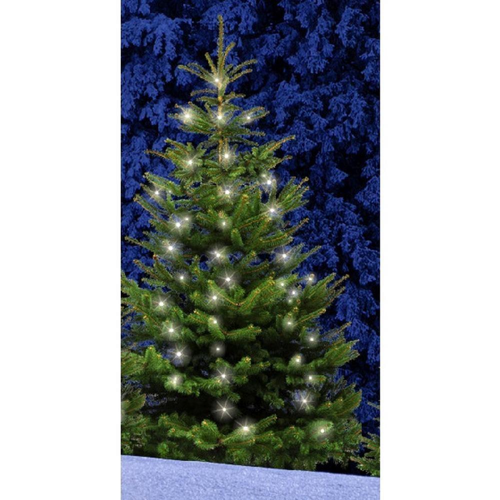 LED Baumvorhang Lichterkette 300er warmweiß 12 Stränge-2,5m Timer FHS 31176