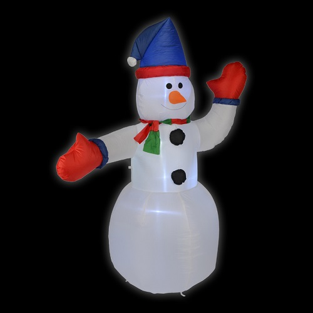 LED Air-Blown Schneemann 1,8m selbstaufblasend aussen HI 54112