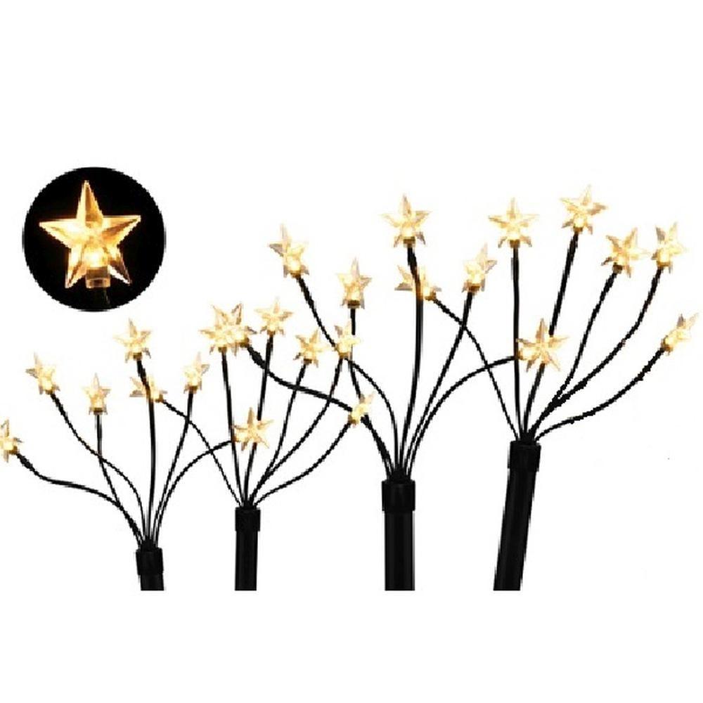LED-Sternenstäbe Sternenleuchtstäbe warmweiß 4/24er außen HI 57986
