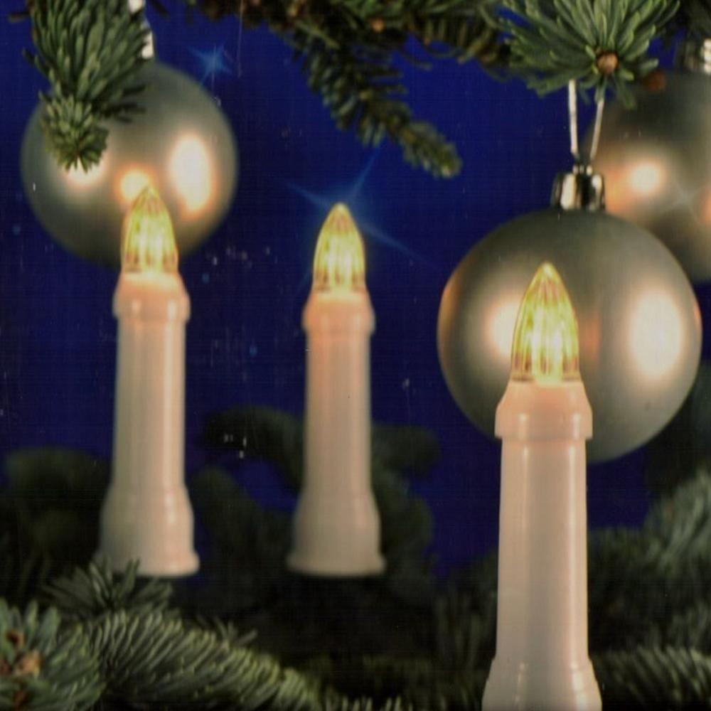 LED Weihnachtsbaumbeleuchtung 30er außen warmweiß 11,6m Lichterkette 76610