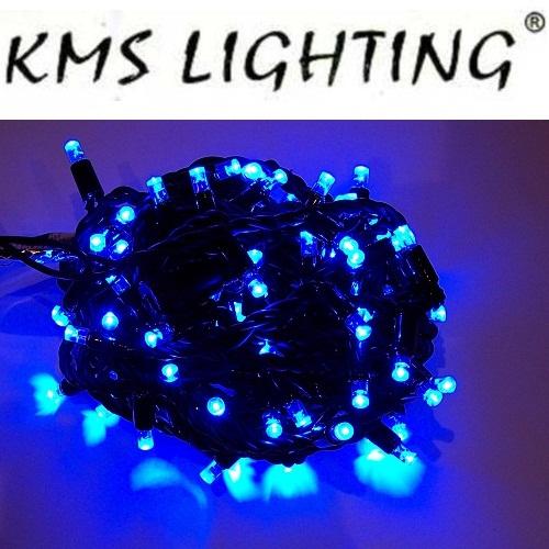KMS LED Lichterkette blau-schwarz 120er 20m verlängerbar