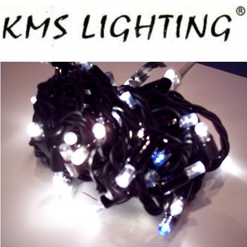 KMS LED Lichterkette warmweiß-schwaz 50er 5m 10 blinkende verlängerbar