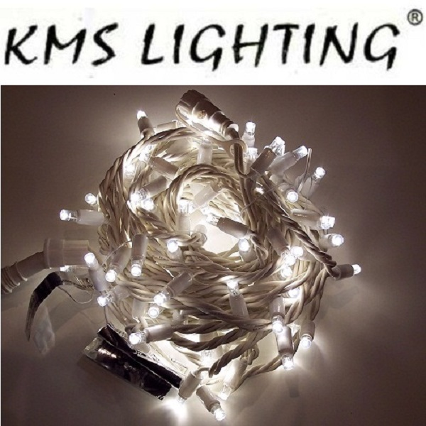 KMS LED Lichterkette warmweiß-weiß 100er 10m Version 1
