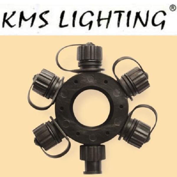 KMS Ring-Connector Verteiler 11cm schwarz / black Modell 1