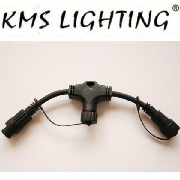 KMS T-Connector Verteiler 25cm schwarz / black