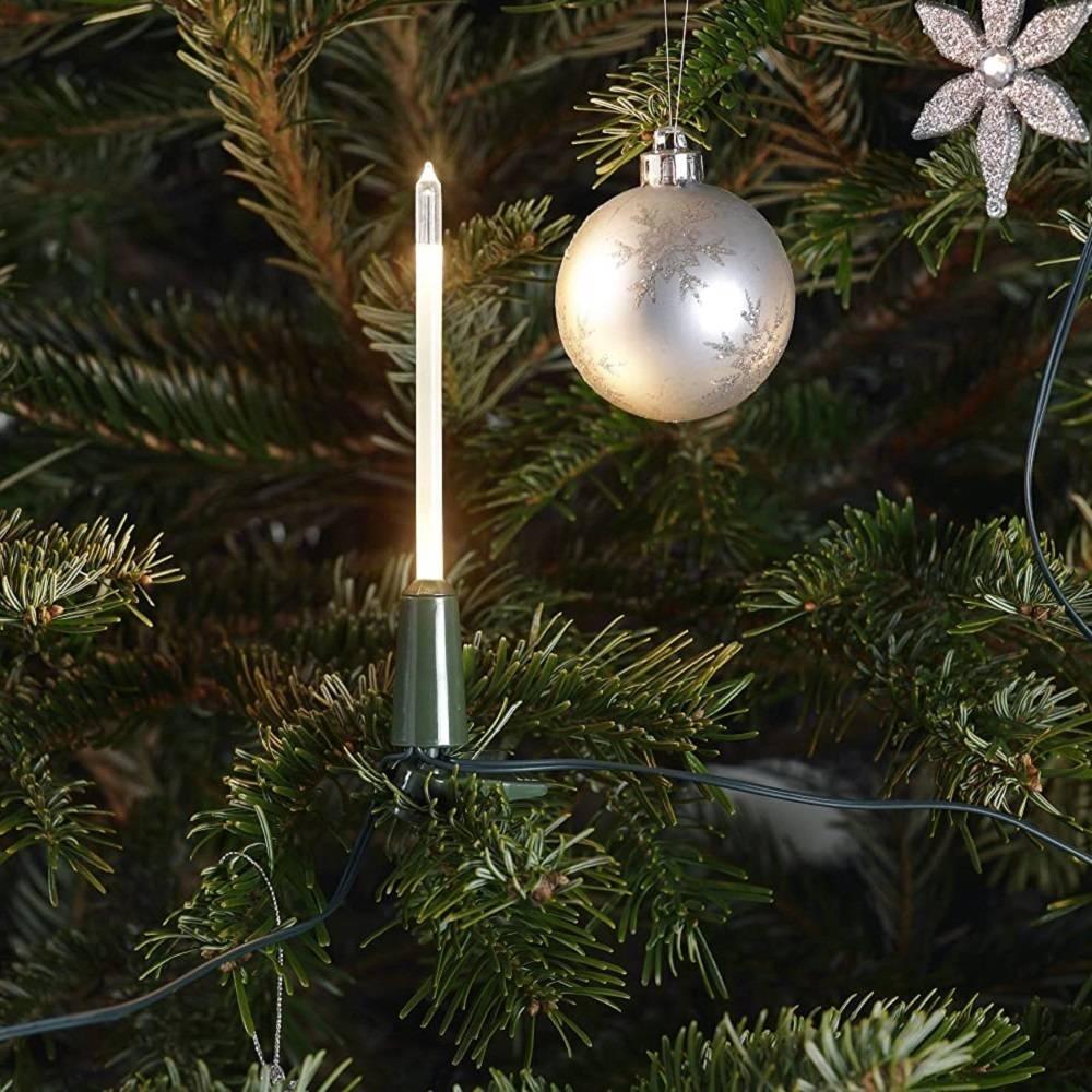 LED Weihnachtsbaumbeleuchtung 16er slim line elfenbein 1168-000