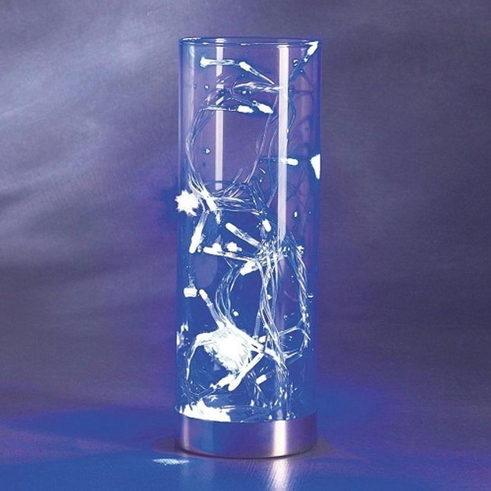 LED Lichterkette im Deko Glas 32er blau Konstsmide 1228-400