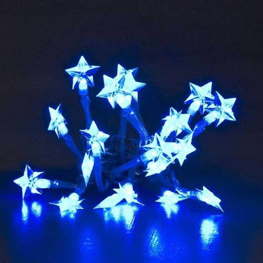 LED Lichterkette 20er Sterne blau Batteriebetrieb Konstsmide 1263-403