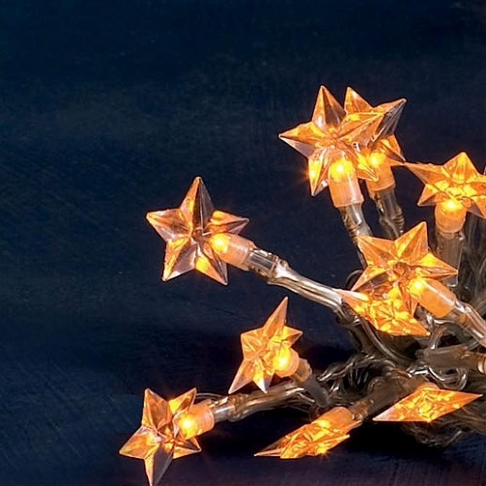 LED Lichterkette 20er Sterne gold Batteriebetrieb Konstsmide 1263-853