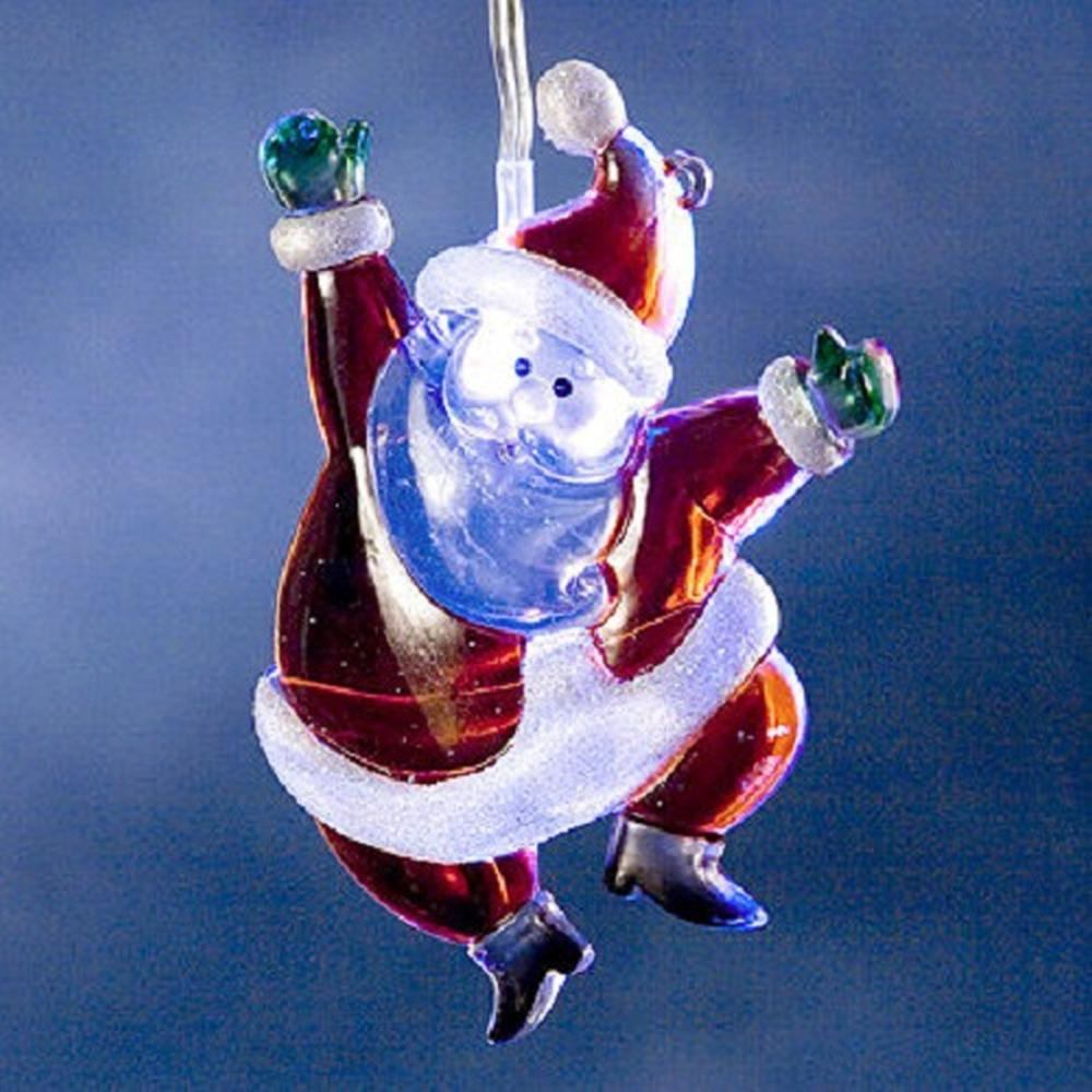 Weihnachtsmann mit weißer LED Batteriebetrieb 11cm Konstsmide 1276-203