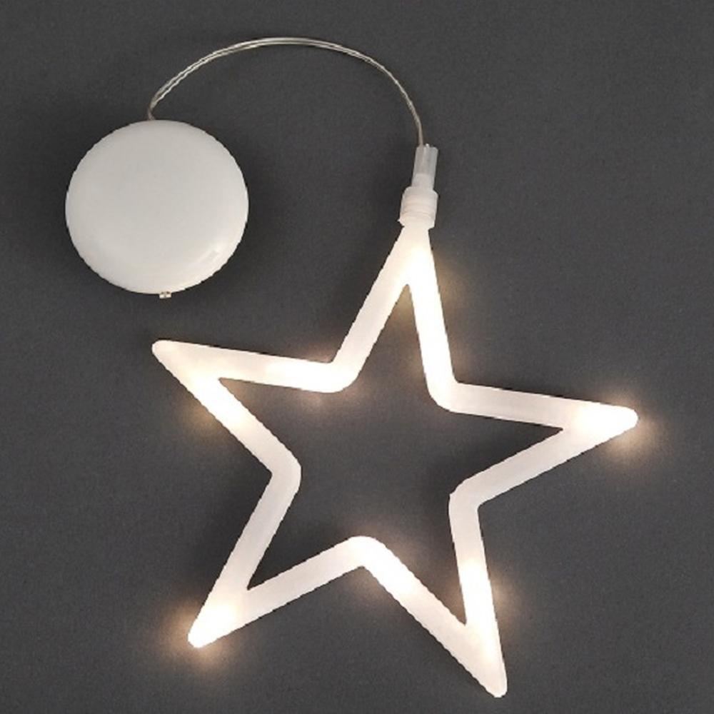 LED Fensterbild Silhouette Stern innen Konstsmide 1296-103
