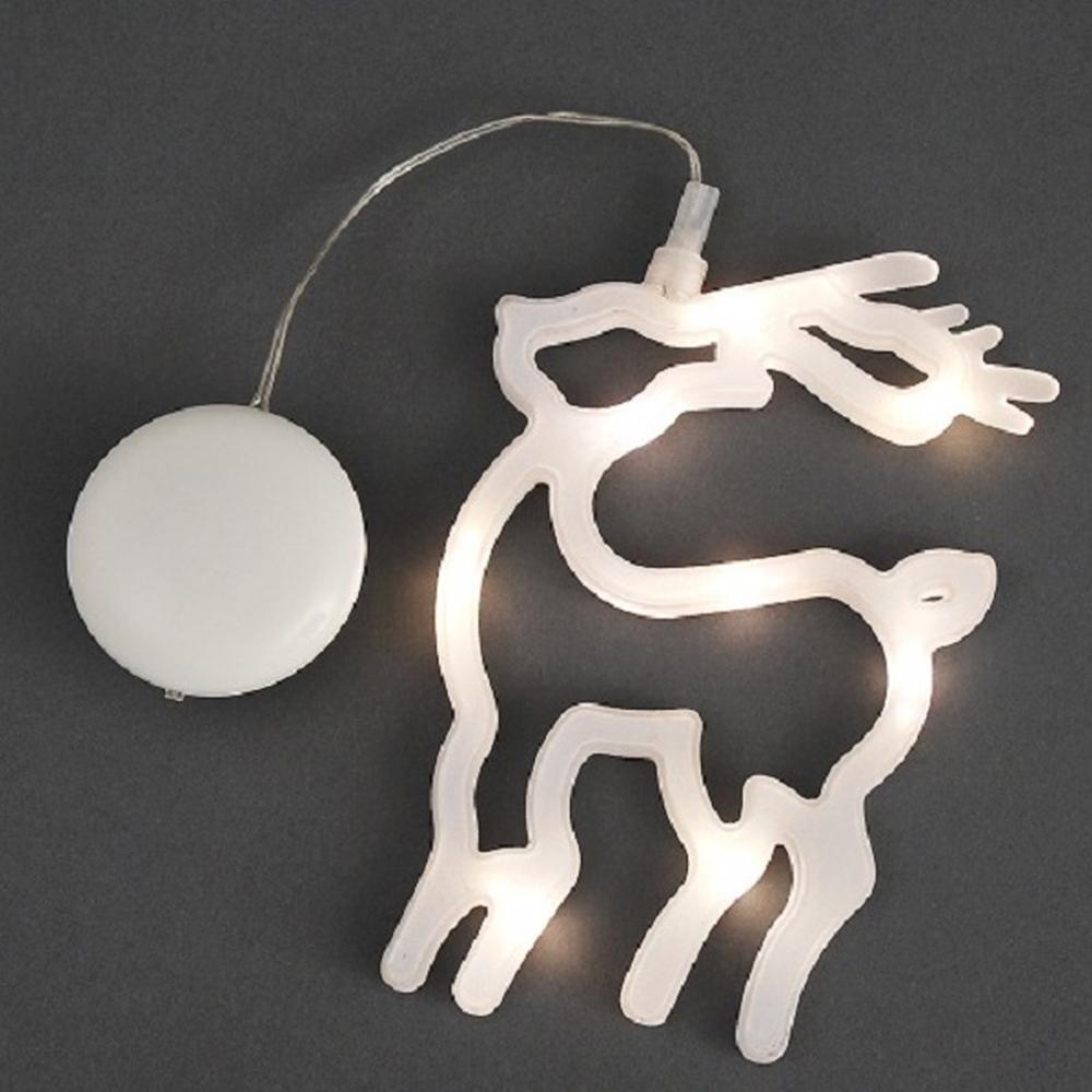 LED Fensterbild Silhouette Rentier Konstsmide 1298-103