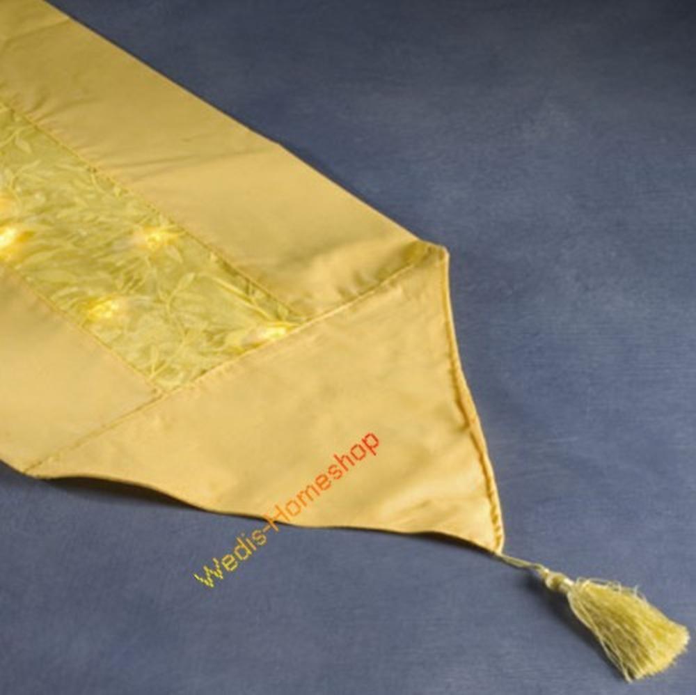 Tischläufer Organza gelb mit 20er LED Lichterkette Konstsmide 1352-000