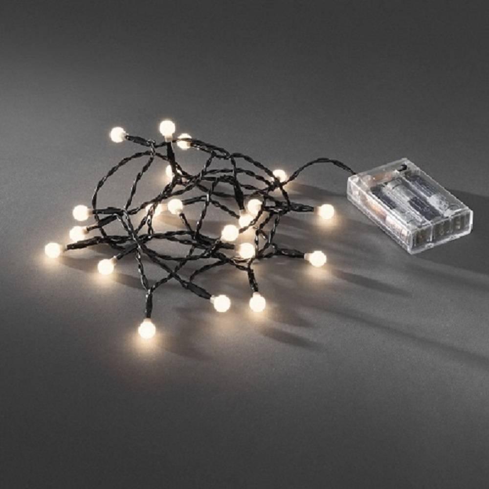 LED Globe-Lichterkette 20er Batterie 3xAA Timer innen warmweiß 1491-107