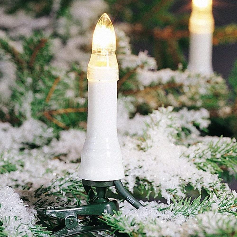 Weihnachtsbaumbeleuchtung 16er Topbirnen 10,5m außen teilbarer Stecker 2011-000