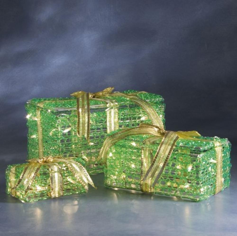 3D Geschenkpakete-Set grün 60 klare Micro-Bulbs 2248-900