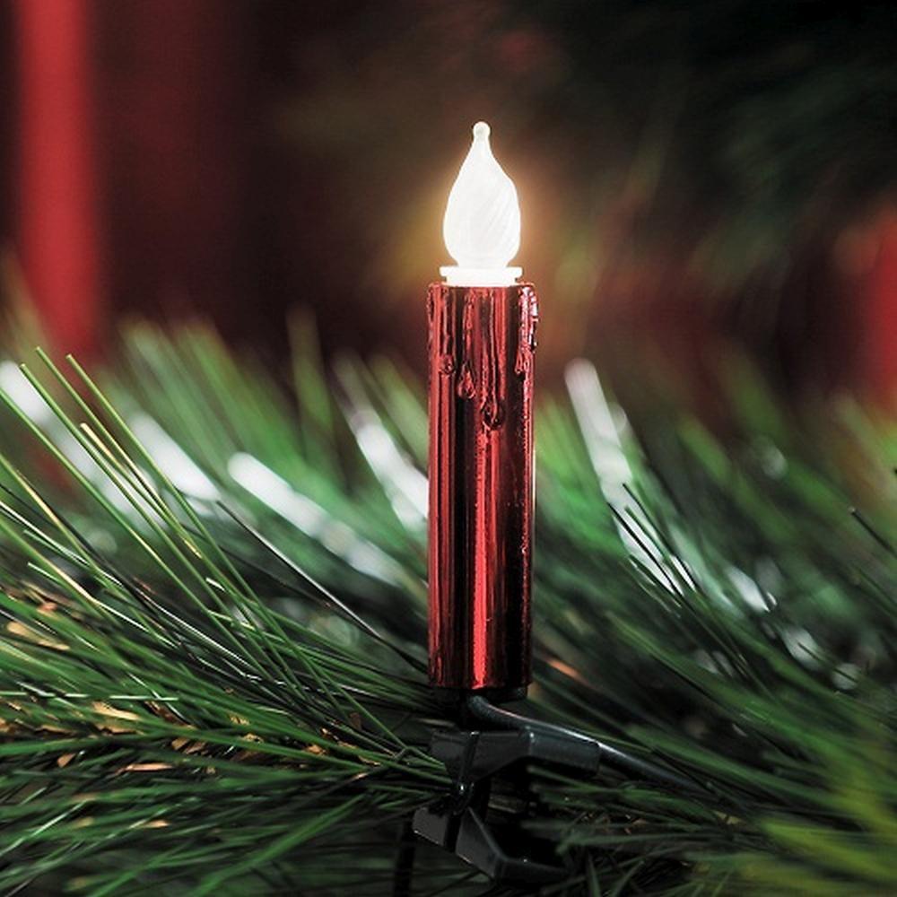 Weihnachtsbaumbeleuchtung 20er Lichterkette rot gefrostet 2316-550