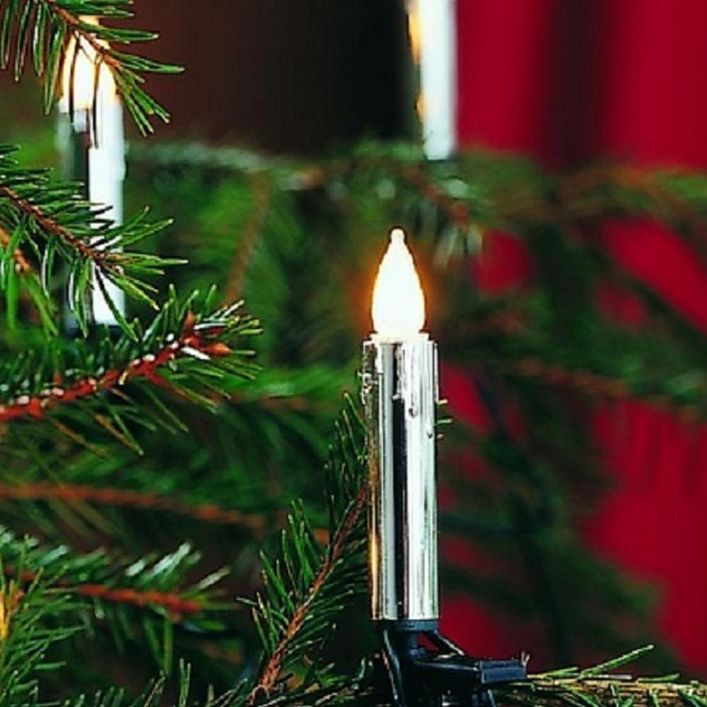 Weihnachtsbaumbeleuchtung 40er Lichterkette silber gefrostet 2336-900 innen