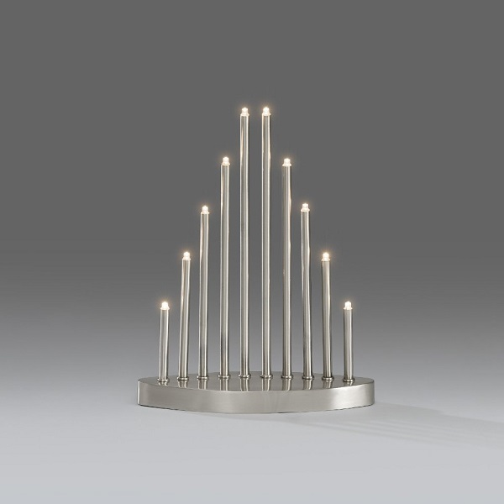 LED Metallleuchter 10er Edelstahl gebürstet Konstsmide 2401-900