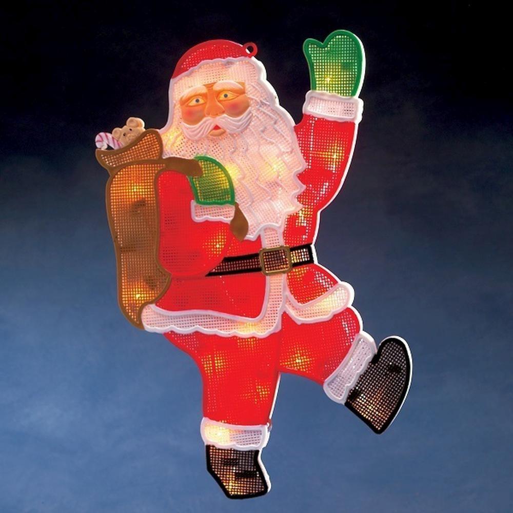 LED Fensterbild Fenstersilhouette Weihnachtsmann Konstsmide 2850-010