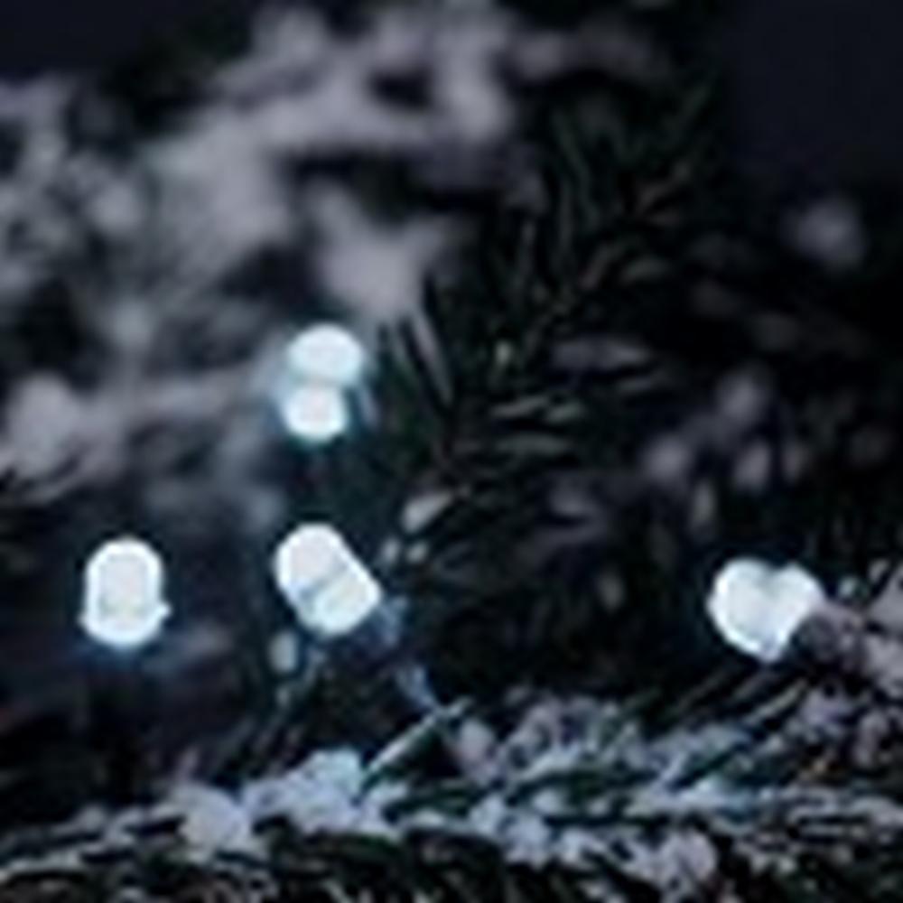 LED Lichterkette 5,85m 40er kaltweiss Lauflicht Konstsmide 3041-200