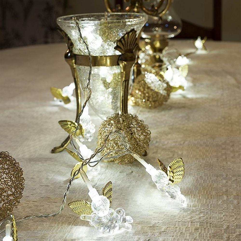 LED Deko Lichterkette goldene Engel 24er warmweiß innen Konstsmide 3149-803